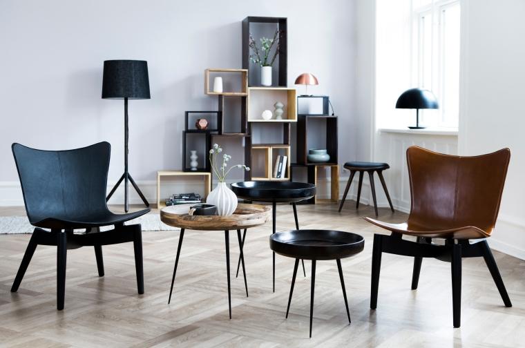Mater Lounge kollektion. Shell, Bowl, lounge.