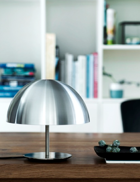 Mater Dome lamp, new, steel. Todd Bracher