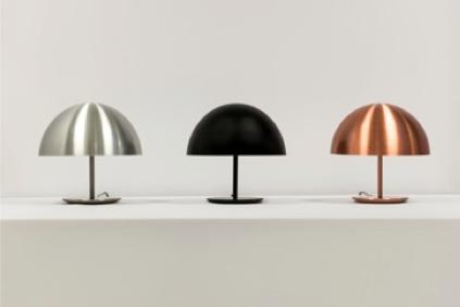 Nye versioner af Dome lampen, læg mærke til kobber varianten.