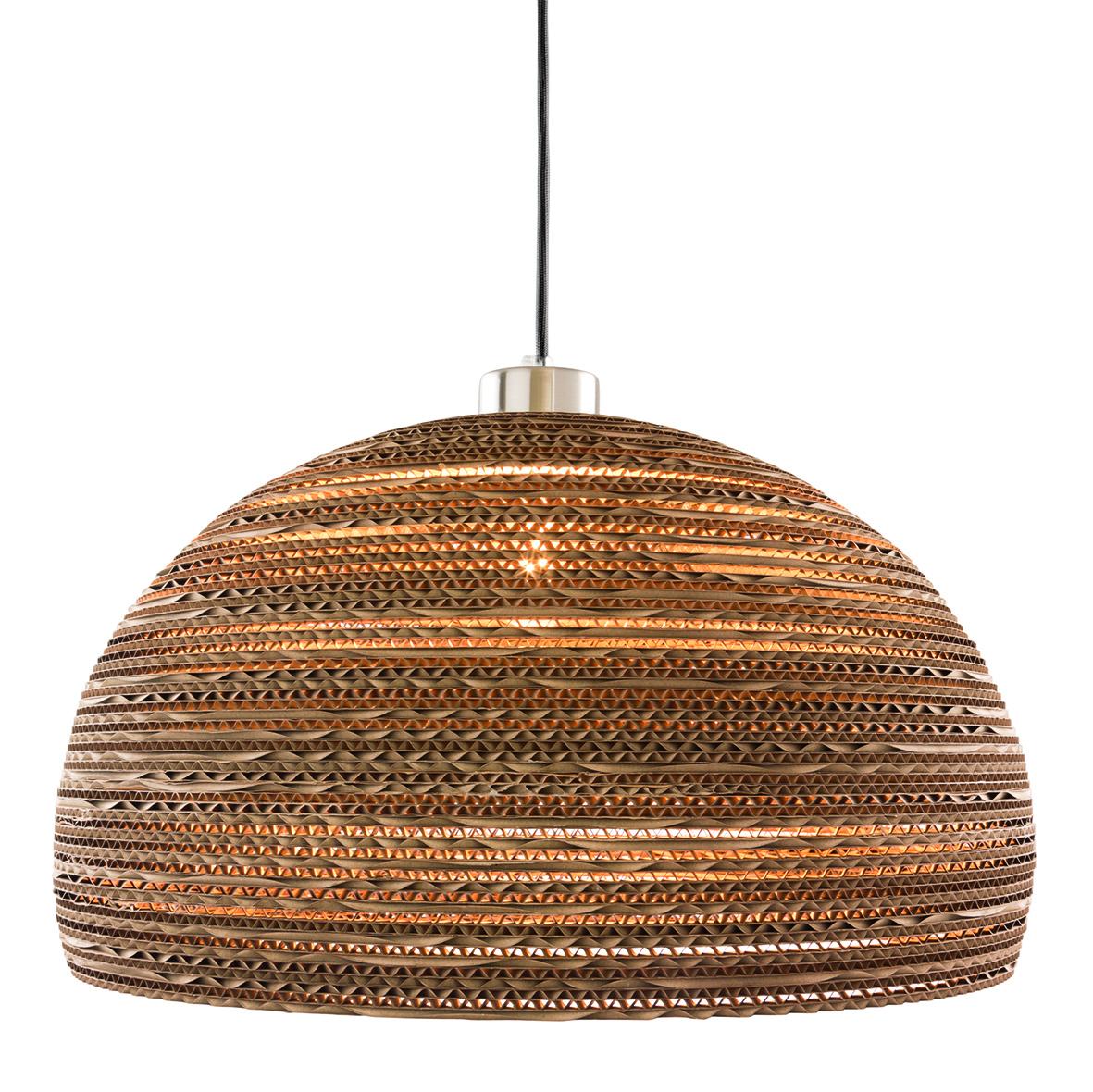 Lampe i genbrugspap. Ø 44 cm. H 22 cm. Pris